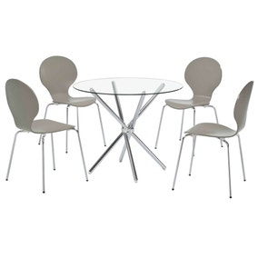 Casa Grey 4 Seater Dining Set
