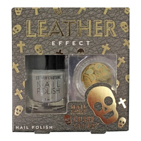 Colour Couture Leather Effect Skull Nail Art