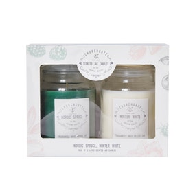 Pack of 2 Large Jar Candles