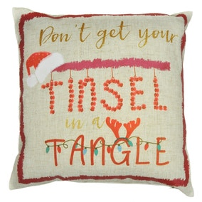 Tinsel in a Tangle Cushion
