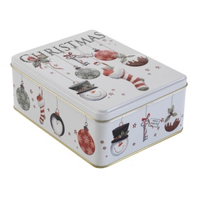 Christmas Chocolate Chip Biscuit Tin