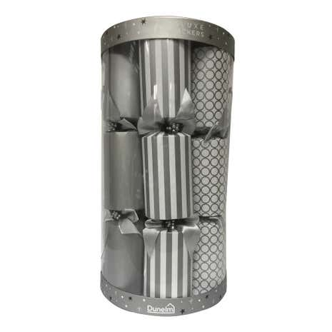 Set of 6 Deluxe Silver Crackers