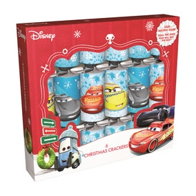 Cars 3 Pack of 6 Christmas Crackers