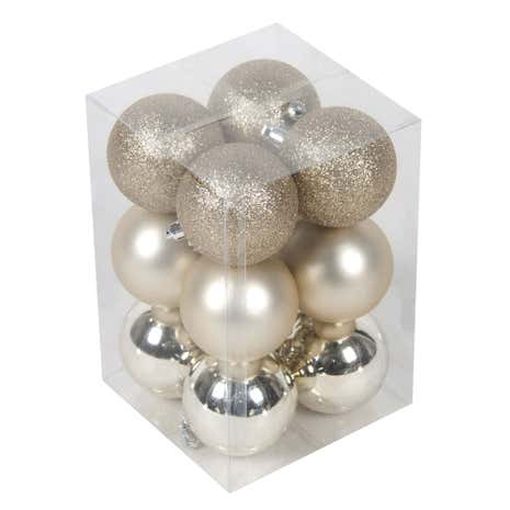Pack of 12 Champagne Baubles