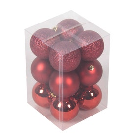 Pack of 12 Red Baubles