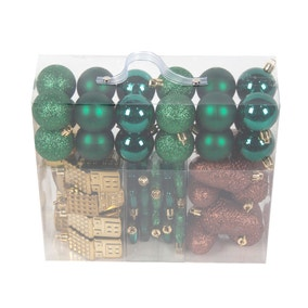 Pack of 50 Assorted Green Decorations