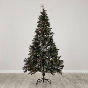 6FT Pre Lit Virginia Berry & Cone Christmas Tree