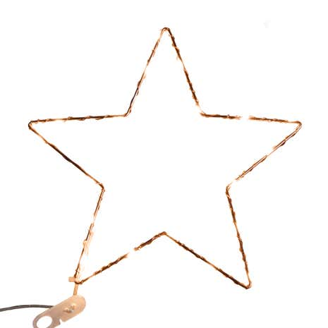 Copper LED Light Up Star