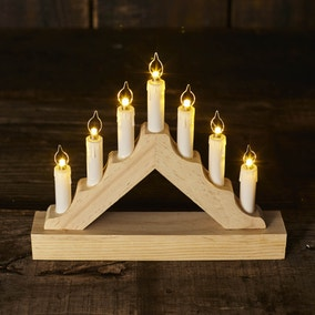 Wooden Mini Candle Bridge