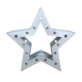 Metal Star Shaped Candle Holder