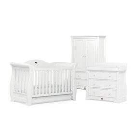 Boori Sleigh Royale 3 Piece Room Set in White