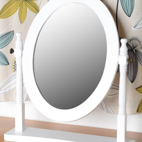 Contessa White Dressing Table Mirror