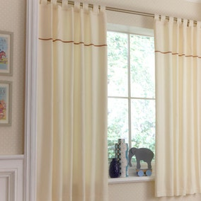 Izziwotnot Cream Gift Tab Top Cotton Curtains