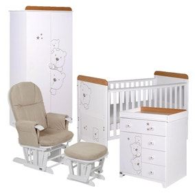 Tutti Bambini Beech and White 3 Bears 5 Piece Room Set