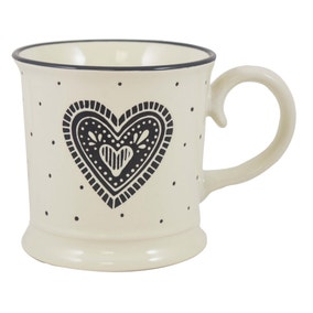 Monogram Mug Love Heart