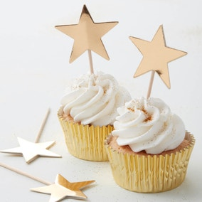 Gold Foil Star Cupcake Toppers