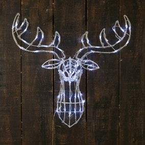 Light Up Acrylic Stag Head