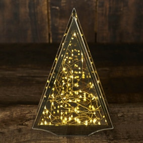 Large Tinted Light Up Christmas Tree