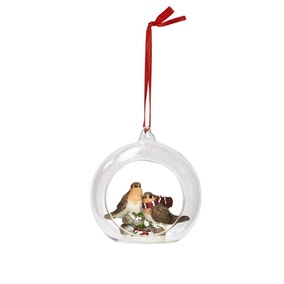 Bauble Containing Two Robins
