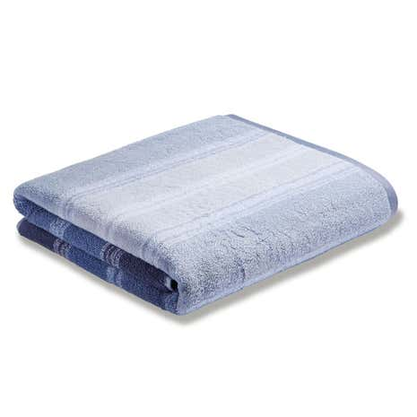 Bianca Cotton Blue Ombre Stripe Towel