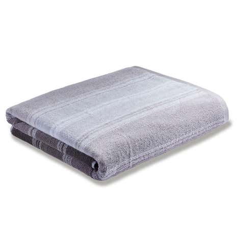 Bianca Cotton Grey Ombre Stripe Towel
