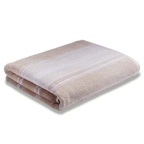 Bianca Cotton Natural Ombre Stripe Towel