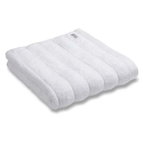 Bianca Cotton White Ribbed Towel
