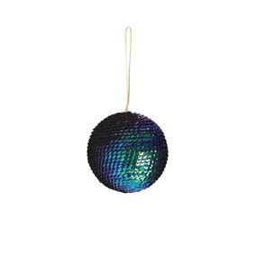 Sequin Peacock Bauble