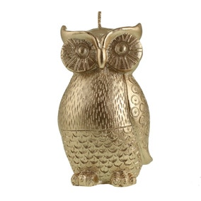 Gold Owl Candle