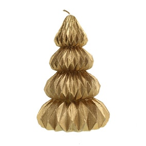 Gold Geometric Tree Candle