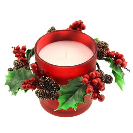 Winter Berries Candle Wreath