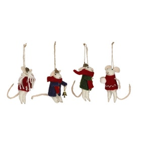 Pack of 4 Felt Mice