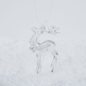 Acrylic Stag Hanging Tree Decoration