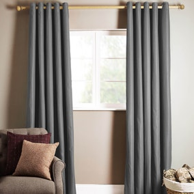 Ottawa Grey Thermal Eyelet Curtains