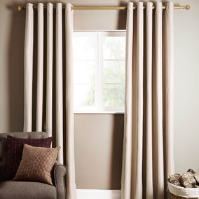 Ottawa Natural Thermal Eyelet Curtains