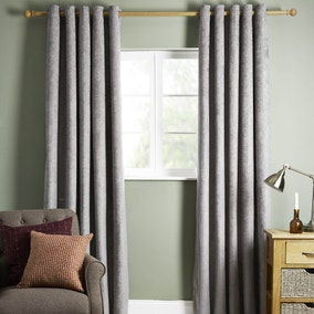 Cloudmont Silver Thermal Eyelet Curtains