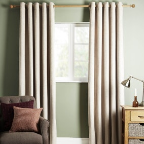 Cloudmont Natural Thermal Eyelet Curtains