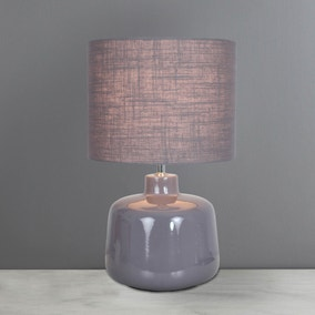 Oslo Large Grey Ceramic Table Lamp