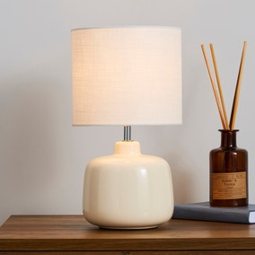 Oslo Small Cream Ceramic Table Lamp