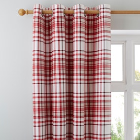 Hartford Red Blackout Eyelet Curtains