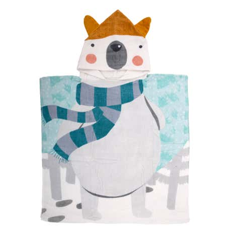 Kids Polar Bear Hooded Towel