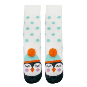 Penguin Spotted Slipper Socks