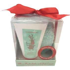 Reindeer Socks and Foot Cream Stocking Filler