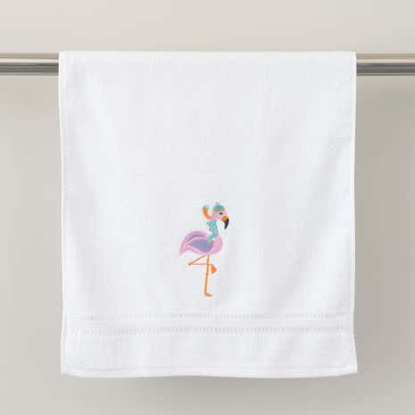Flamingo Christmas Hand Towel