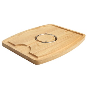 T&G Hevea Wood Carving Board