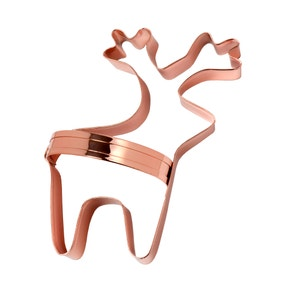 Eddingtons Copper Reindeer Biscuit Cutter