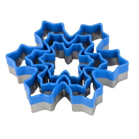 Tala Set of 3 Soft Touch Snowflake Cookie Cutters