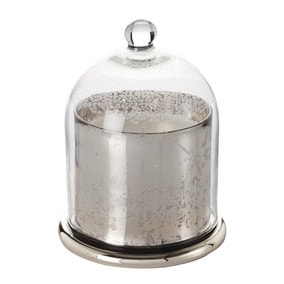 Silver Medium Cloche Candle