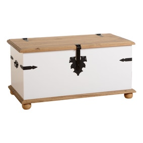 Corona White Storage Chest