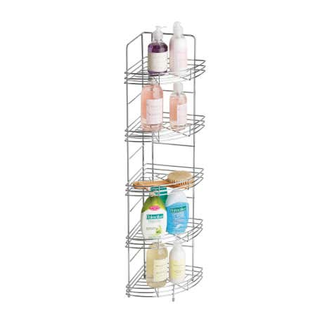Chrome Corner Storage Rack